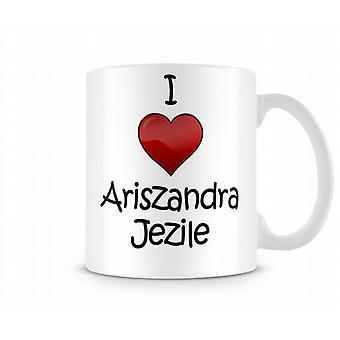 Ik hou van Ariszandra Libantino bedrukte mok