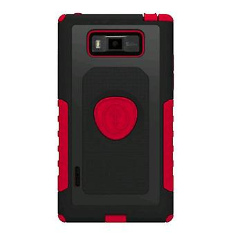 Trident - Aegis Series Case for LG Splendor/US730 Cell Phones - Red