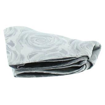 David Van Hagen bruiloft Rose Silk zakdoek - zilver