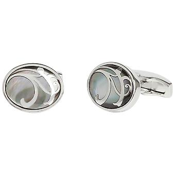 Simon Carter Maurice Mother of Pearl Cufflinks - Grey
