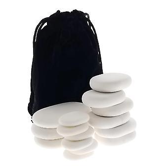 15pc masażu marmuru zimnego kamienia zestaw w/Velvet futerał podróżny