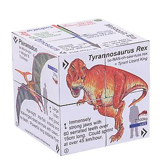 ZooBooKoo Factual Educational Dinosaur T-Rex and Friends Cubebook