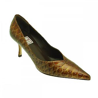 Renata Patent Python Skin Effect Court Shoe