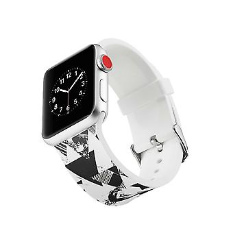 Silicone Watch Strap para Apple Watch 4 44mm, 3/2/1 42mm-Triangle