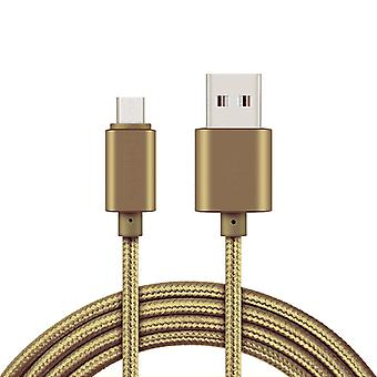 2m Micro USB cable for charging and data transfer-gold