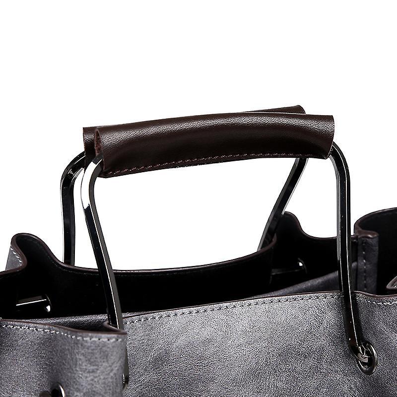 Handväskan i grå LAMM2019, 33x26x15 cm