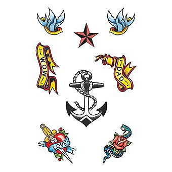 Seemann Thema Tattoos.