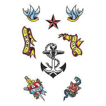 Tatuajes de tema marinero.