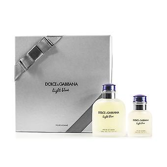 Dolce & Gabbana vaaleansininen Pour Homme 2 pala Gift Set