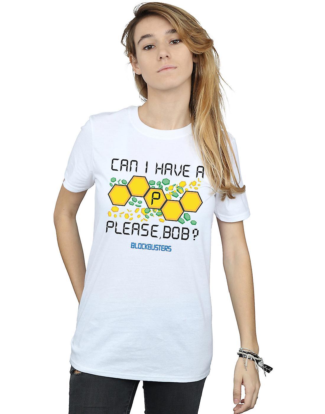 Blockbusters Women's Can I Have A P Please Bob? Boyfriend Fit T-Shirt