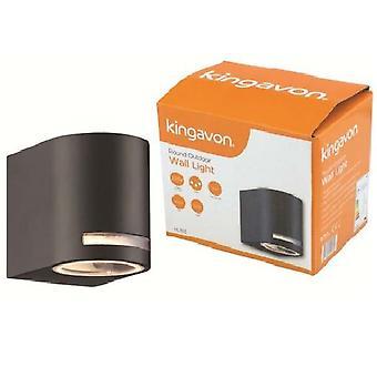 Kingavon Round Outdoor Wall Light IP44 GU10 Black