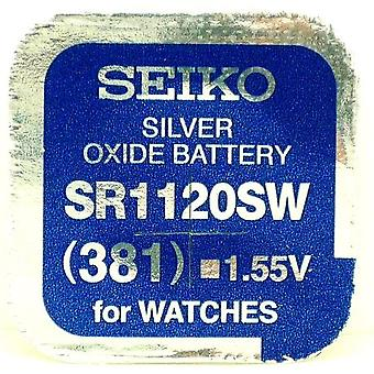 Seiko 381 (sr1120sw) 1.55v Silver Oxide (0%hg) Mercury Free Watch Battery - Made In Japan