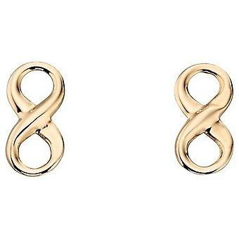 Elements Gold Infinity Stud Earrings - Yellow Gold