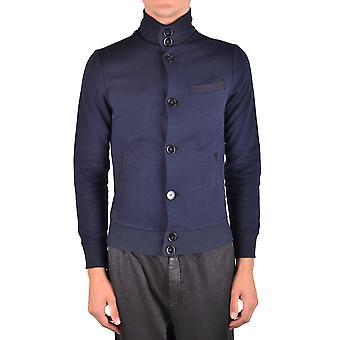 Paolo Pecora Ezbc059035 Men's Blue Cotton Sweatshirt