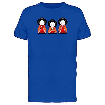 Three Japanese Dolls Tee Men's -Image by Shutterstock