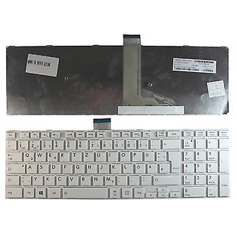 Toshiba Satellite S50Dt-A5161SM White Frame White Windows 8 German Layout Replacement Laptop Keyboard