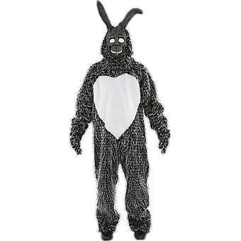 Mens Donnie Darko zwarte konijn horror film Halloween film fancy dress kostuum