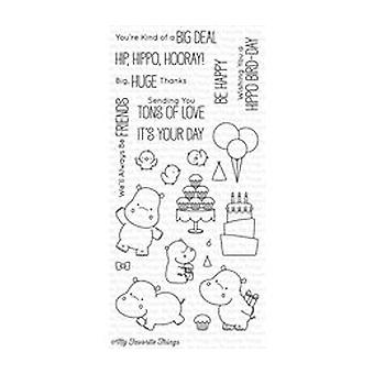 My Favorite Things Happy Hippos Clear Stamps (BB-47)