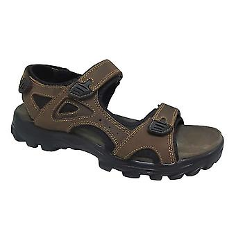 Roamers Mens três pontos de fixação de toque sandálias