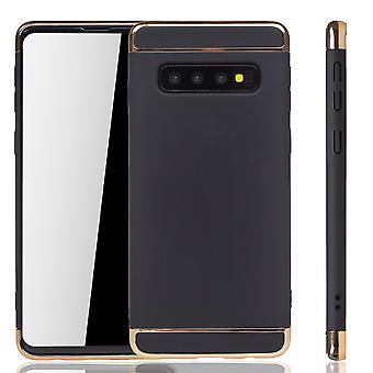 Samsung Galaxy S10 Handy Hülle Schutz Case Bumper Hard Cover Schwarz