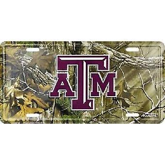 Texas A&M Aggies NCAA Camo matrícula
