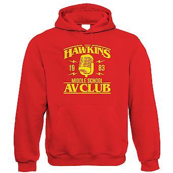 Hawkins Middle School AV Club, Hoodie - TV Inspiré Geek Cadeau Lui Her