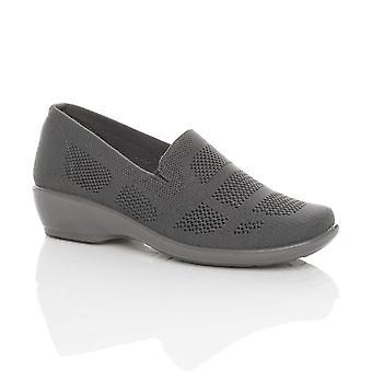 Ajvani naisten puoli välissä matala kantapää slip Mesh työtä kevyt mukavuus kengät