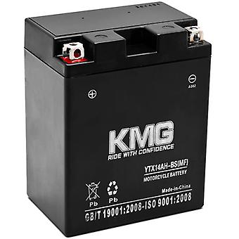 Battery for Polaris 500 Sportsman HO 1996-2012 YTX14AH-BS Sealed Maintenance Free Battery High Performance 12V SMF OEM Replacement Powersport Motorcycle ATV Scooter Snowmobile