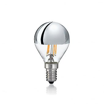 Ideal Lux Light Bulb Classic E14 4W Sfera Chrome