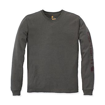 Carhartt para hombre manga larga costilla de punto cuello redondo firma Logo t-shirt