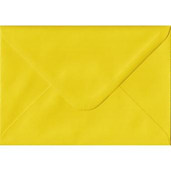 Daffodil Yellow Gummed C6/A6 Coloured Yellow Envelopes. 100gsm FSC Sustainable Paper. 114mm x 162mm. Banker Style Envelope.
