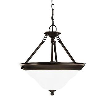 Sea Gull Lighting Sussex 3-Light Semi Flush Convertible Pendant Heirloom Bronze