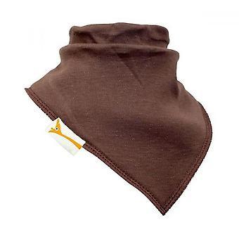 Brown plain bandana bib