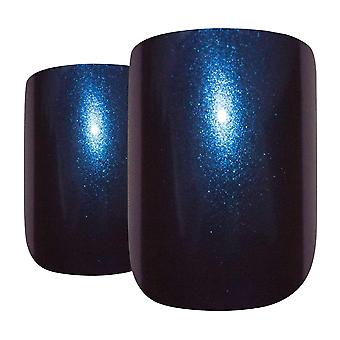 False nails by bling art blue purple chameleon french squoval 24 fake tips
