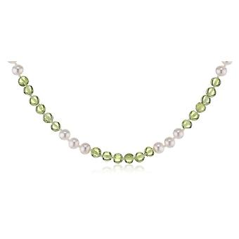 Nina Exclusiv jewelry 170-2 - Women's necklace with peridotite - silver sterling 925 - 450 mm