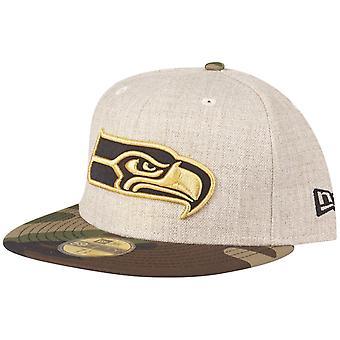 New Era 59Fifty Cap - HEATHER OAT Seattle Seahawks wood camo