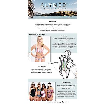ALYNED TOGETHER Women's Retro Mid Rise Bikini Top The, Black, Size X-Large