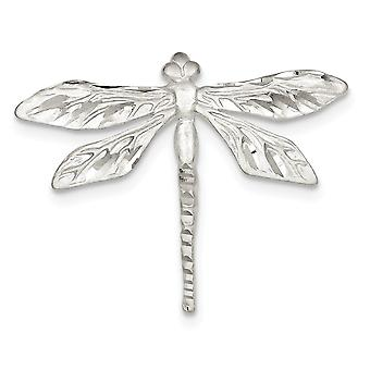 925 Sterling Silver Satin Finish Sparkle Cut Dragon Fly Pin Jewelry Gifts for Women - 4.9 Grams