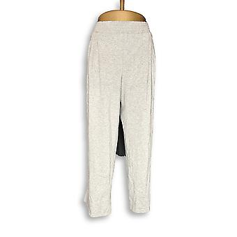 Anybody Women's Petite Pants Cozy Knit Pocketed Gray A347173