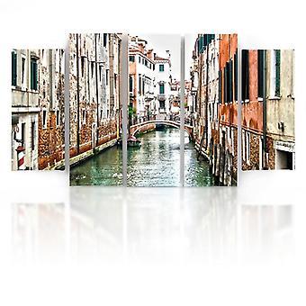 Cinque parti immagine su tela, Pentaptych, tipo B, canale di Venezia 2