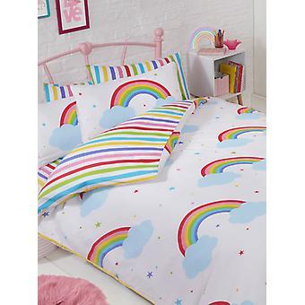 Rainbow Sky Double Duvet Cover and Pillowcase Set