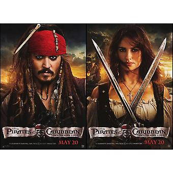 Pirates Of The Caribbean On Stranger Tides Poster Double Sided Advance (Style D) (2011) Original Cinema Poster
