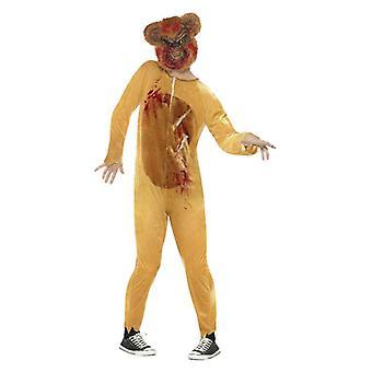 Pánske Deluxe zombie medvedík Halloween efektné šaty kostým