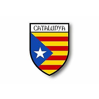 Sticker Sticker Car Moto Blason Flag Catalonia Catalan Independent