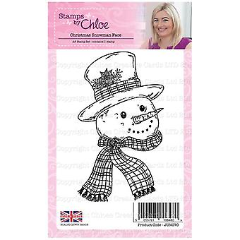 Stamps by Chloe A6 Stamp Set Christmas Snowman Face