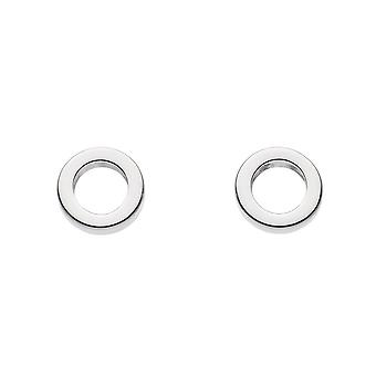 Dew Sterling Silver Small Open Circle Stud Earrings 4830HP022