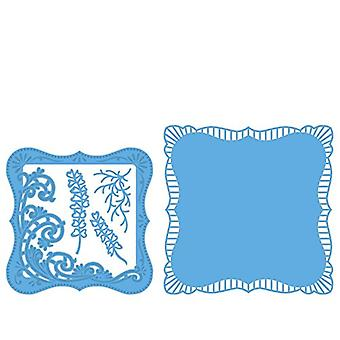 Marianne Design Creatables Anja's Frilly Square Die, Blue