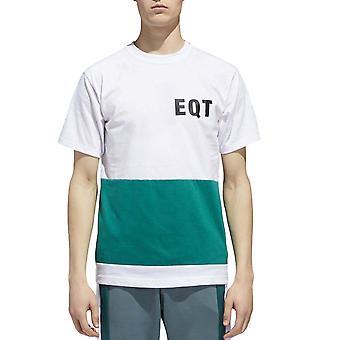 adidas Originals mens EQT Crew Neck Kortärmad bomull T-shirt tee Top-vit