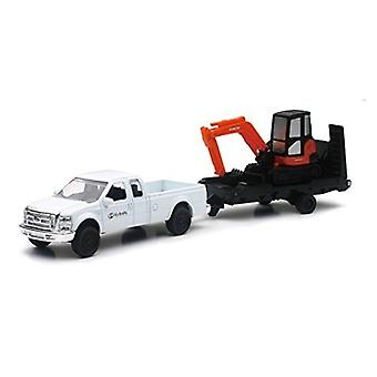 Die Cast koparka Kubota Kx040 / Ford Pick Up Truck