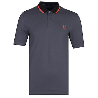 Fred Perry Kontrast gekippt Kohle Polo Shirt
